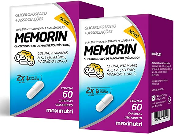 Memorin - 2 unidades de 60 Cápsulas - Maxinutri