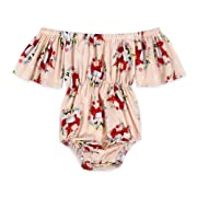 Anbaby Baby Girls Cute Romper Bodysuit Clothes (0-6Months, Pink 2)