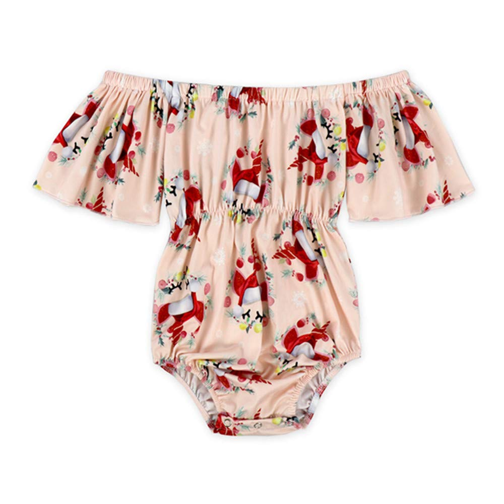 Anbaby Baby Girls Floral Ruffles Romper Long Sleeve /& Sleeveless One-Pieces Bodysuit Floral Outfits Anbaby43