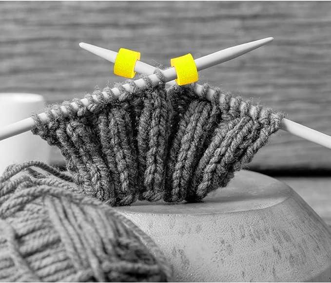 6er Set Maschen-Stopper Nadelstopper Spitzenschoner für Nadel Stricken