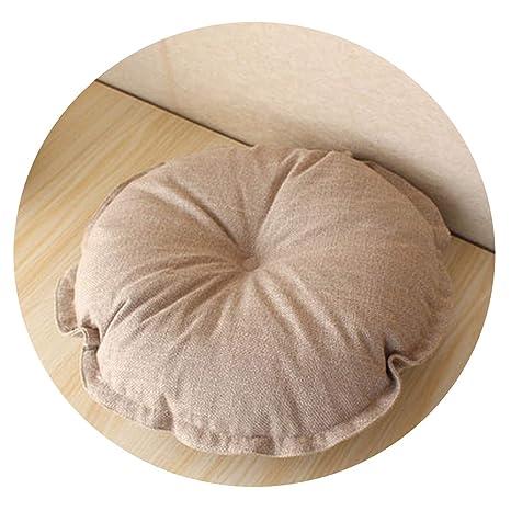 Amazon.com : Seat Cushion New Cotton Linen Throw Pillows ...