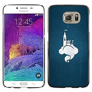 Paccase / SLIM PC / Aliminium Casa Carcasa Funda Case Cover para - cloud Castle - Samsung Galaxy S6 SM-G920