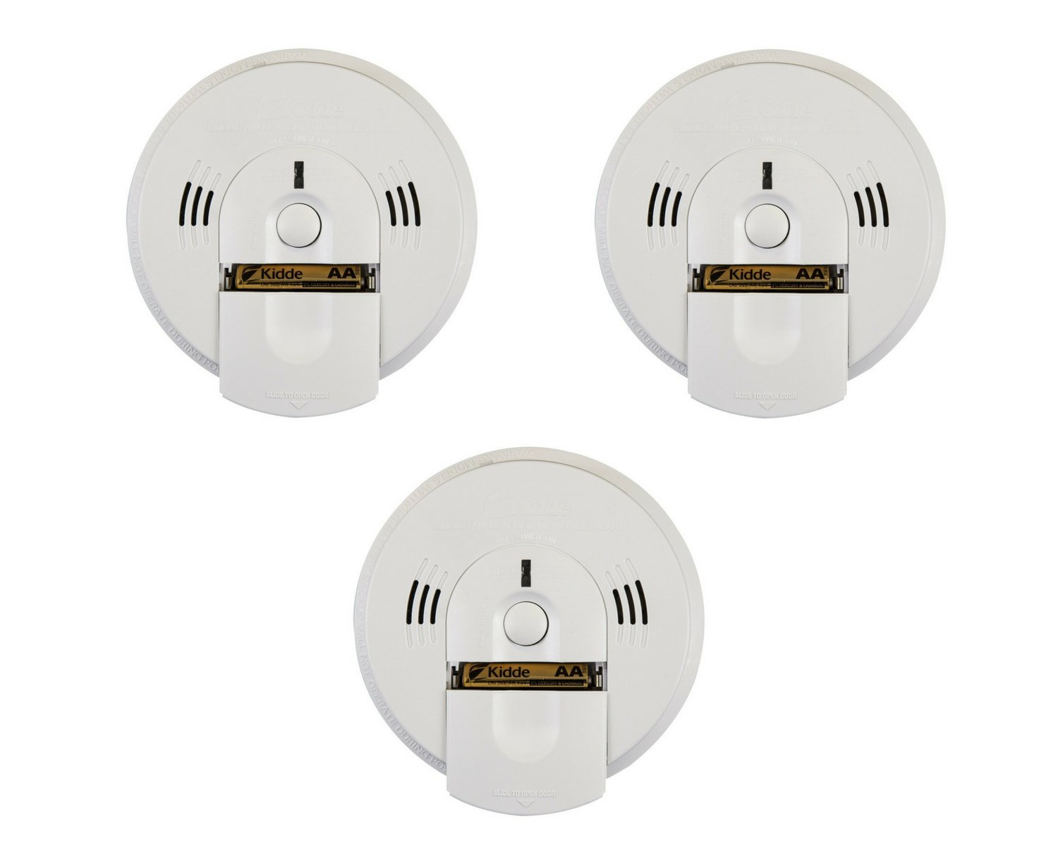 Kidde KN-COSM-BA Battery-Operated Combination Carbon Monoxide and Smoke Alarm with Talking Alarm (3-Pack)