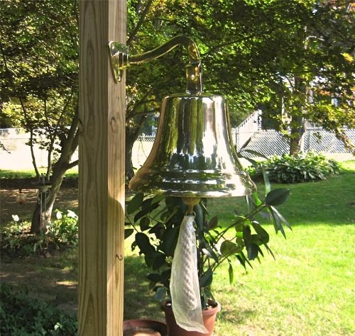 Large Ships Bell - Solid Brass W/mounting Bracket NEW