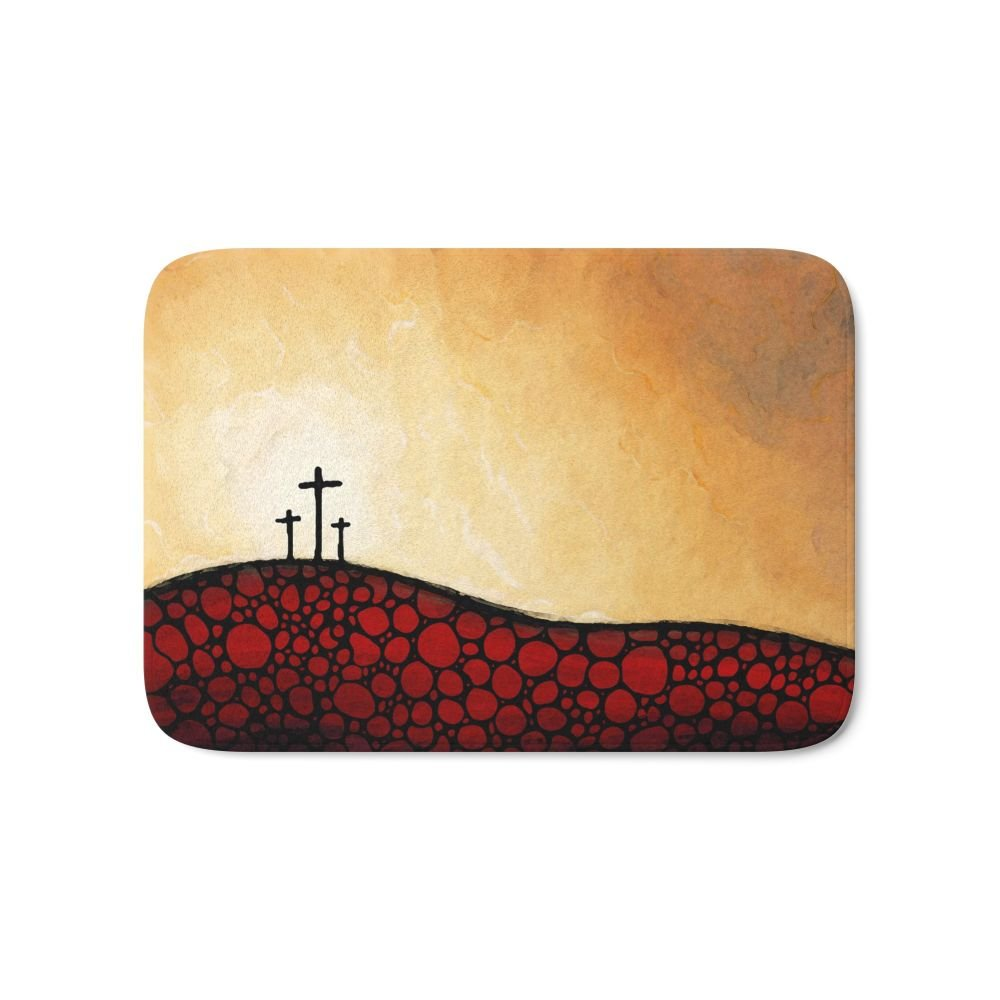 Society6 Forgiven - Christian Art By Sharon Cummings Bath Mat 21'' x 34''