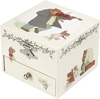 Trousiier Ernest & Celestine – Caja de tesoros y joyas musicales – Ideal regalo infantil – Música Feelings – Colori Marfil: Amazon.es: Bebé