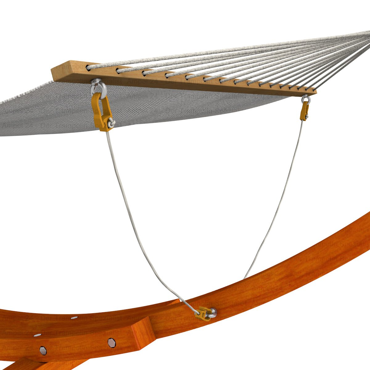 Ampel 24 Transportrollen Set f/ür H/ängemattengestell aus Holz erleichtert das Verschieben 2 R/äder kugelgelagert 120 kg belastbar
