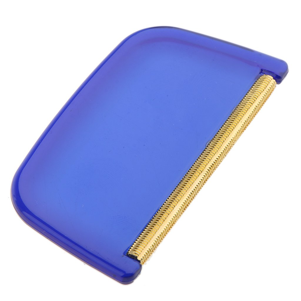 Fenteer Pettine Lana Maglione Lanugine Rimozione Utensili Manuale Cachemire Spazzola per Pulire Blu