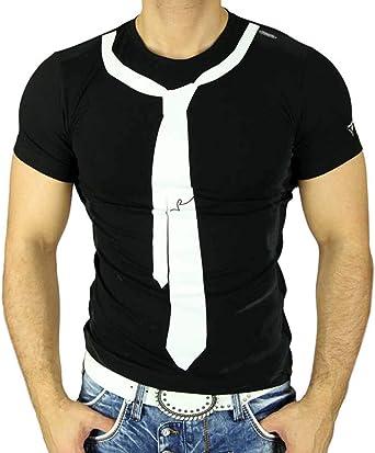 R de Neal Hombre Manga Corta Verano Contraste corbata Style ...
