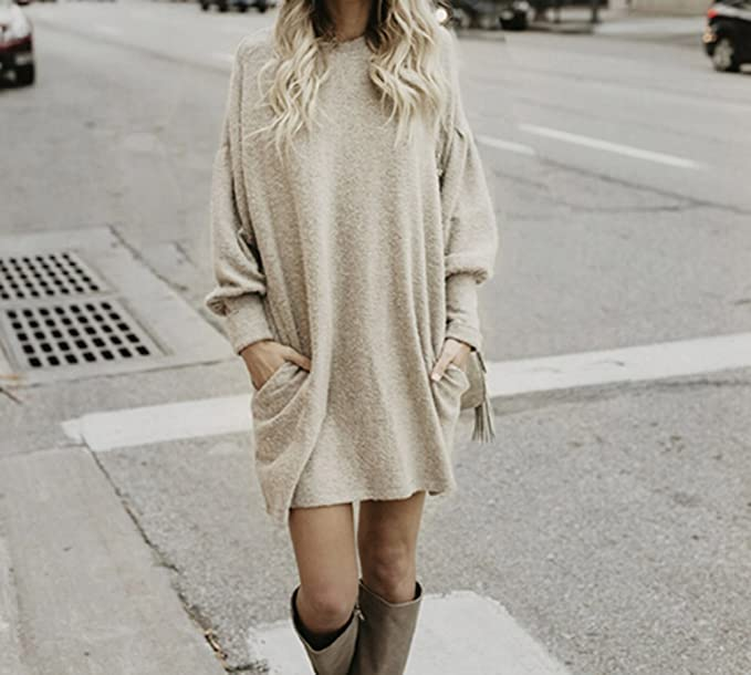 Momtuesdays2 Oversized Sweater Dresses Women | Ladies Long Sleeve Sweater Dresses
