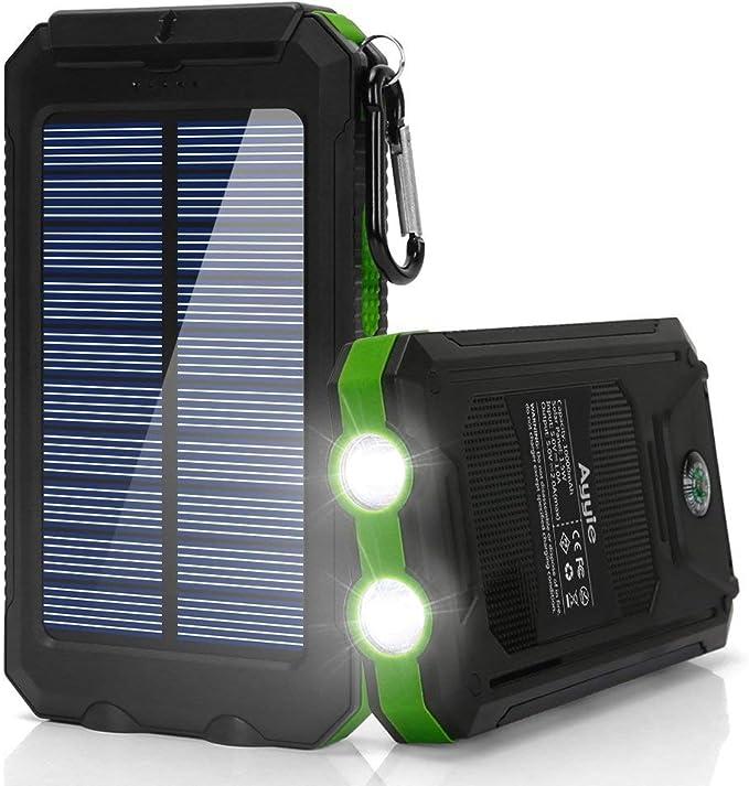 Ayyie Cargador Solar, batería Externa portátil de 10000 mAh ...