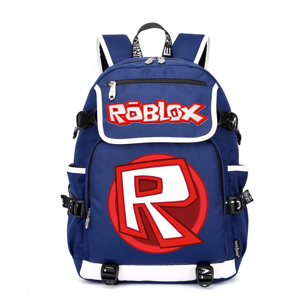 Roblox Mochila Casual Mochila de impresión Mochila de Ocio Mochila al Aire Libre Bolsa de Viaje Mochila Escolar Unisex (Color : Blue09, Size : 37 X...
