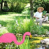 Relaxdays Flamencos para jardín, Decoración de Exterior, Tropical, Plástico & Metal, 2 Tamaños, 1 Set, Rosa: Amazon.es: Jardín