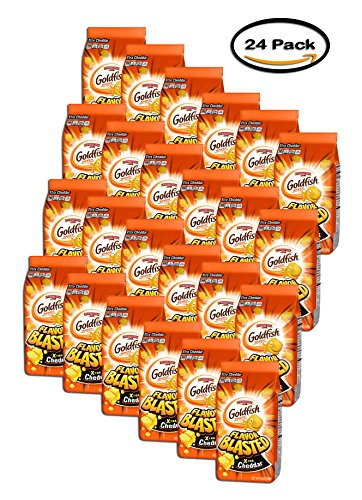 PACK OF 24 - Pepperidge Farm Goldfish Flavor Blasted Xtreme Xtra Cheddar Baked Snack Crackers, 6.6 oz by Goldfish