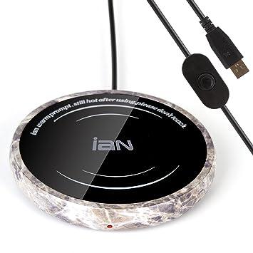 IAN - Placa térmica eléctrica para calentar café, té u otras bebidas calientes 5 V