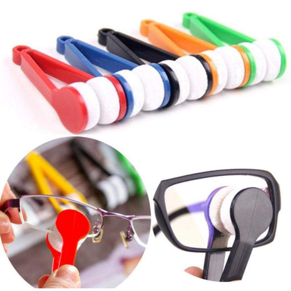 Beimaiji Trade Glasses Cleaner Brush,Microfiber Mini Soft Sun Eyeglass Microfiber Brush,Spectacles Tool Clean Brush Random Color