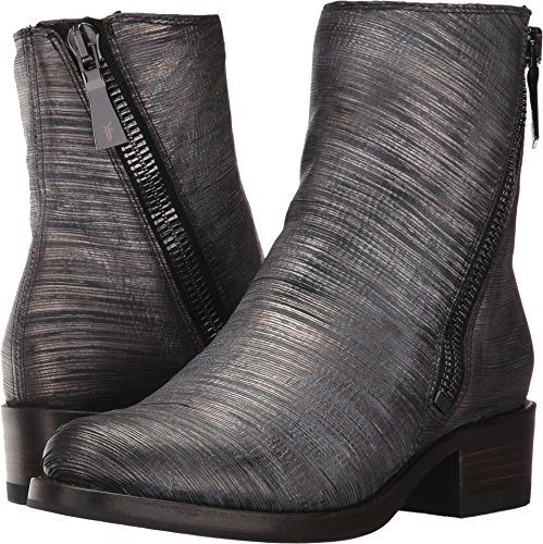 (FRYE Women's Demi Zip Bootie Boot Pewter Cut Metallic 8.5 M US)