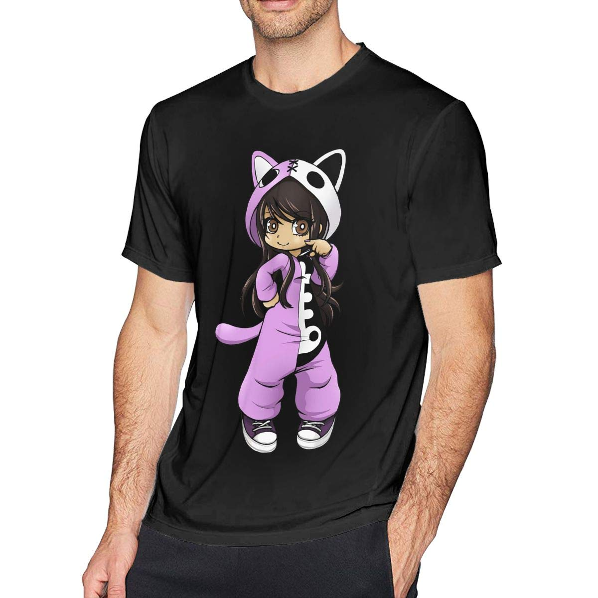 Newlt Mens Classic Aphmau Gaming T Shirts Black