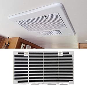 RV Ducted Air Conditioner Grill Cover with Interior A/C Filters Pad Accessories Replaces 3104928.019