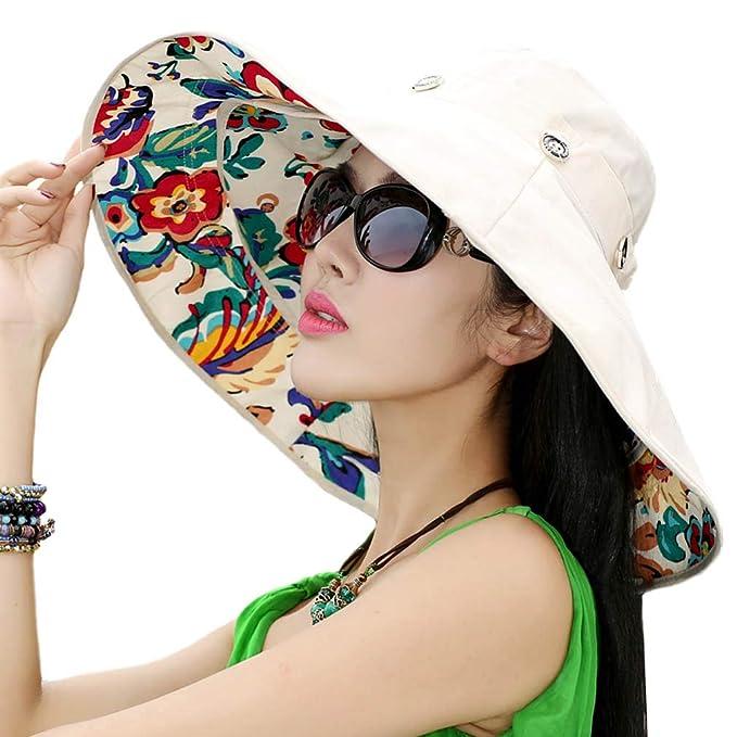 Sombrero de Sol Extraíble con Borde Grande para Gorra Sombrero de Cubo  Solar Reversible de Playa UPF 50+  Amazon.es  Ropa y accesorios 86f5a9ca651