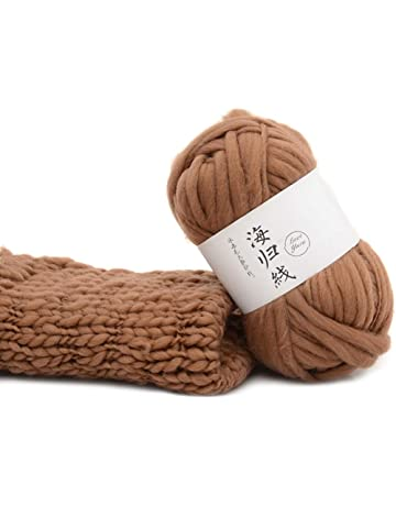 Biniwa – 1 pieza de hilo natural de lana gruesa, para hacer bufandas suaves y