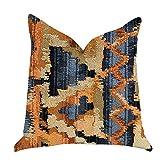 Plutus Brands Sachi Love Luxury Double Sided Throw Pillow, 22'' x 22'', Orange/Blue