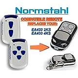 Normstahl EA433 2KS, Normstahl EA433 4KS Compatible Télécommande, 4 canaux 433,92Mhz rolling code remplacement emetteur de haute qualité pour LE MEILLEUR PRIX!!!