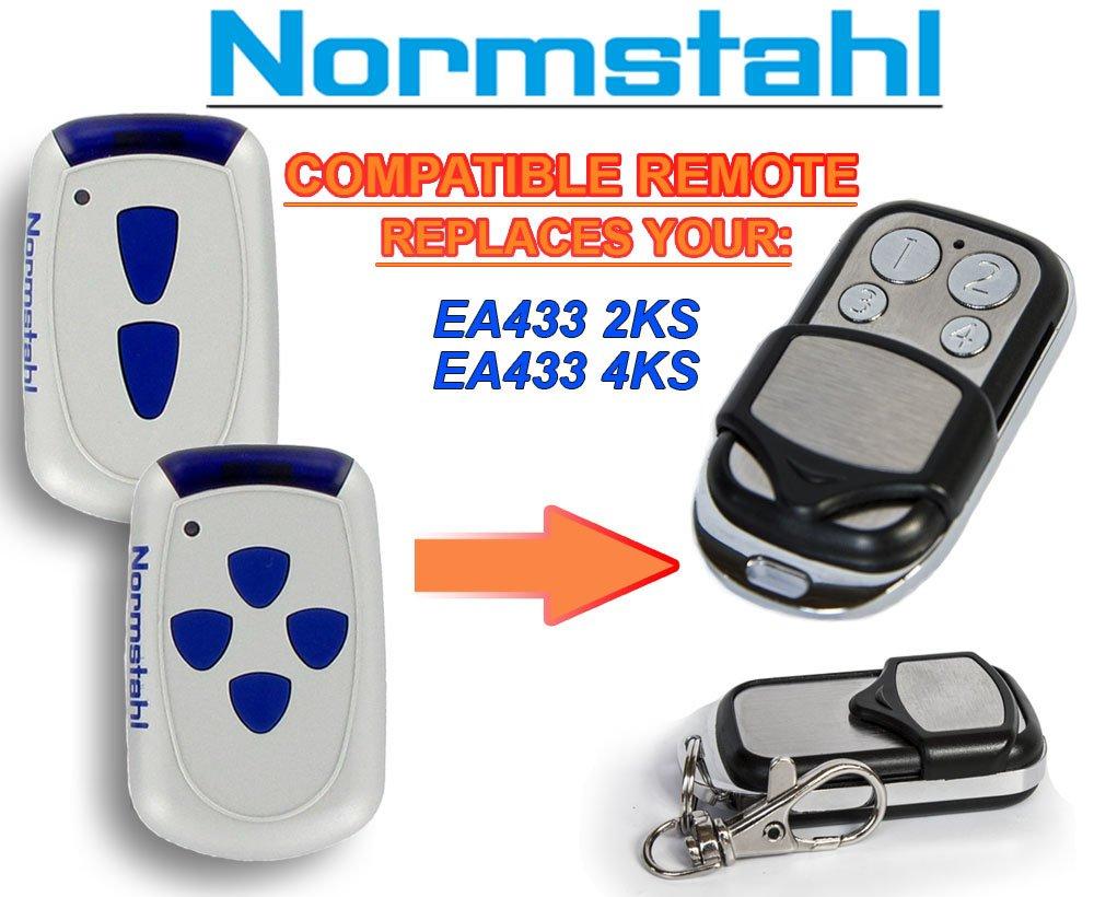 Normstahl EA433 4KS Compatible T/él/écommande 4 canaux 433,92Mhz rolling code remplacement emetteur de haute qualit/é pour LE MEILLEUR PRIX!!! Normstahl EA433 2KS