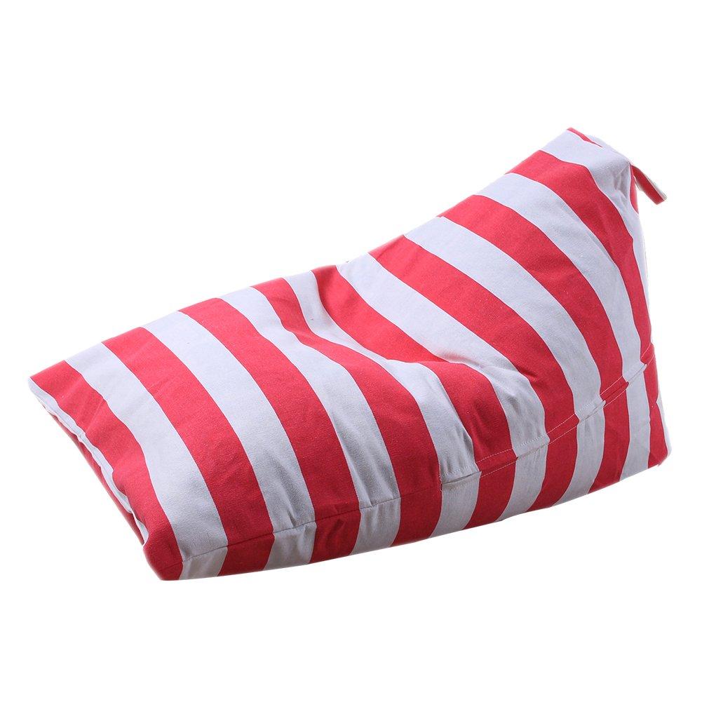 Gaeruite Sitzsack Kinder - Indoor & Outdoor Sitzsac - Plüsch-Spielzeug-Aufbewahrungstasche - Kid GefÜLlt Tier PlÜSchtier Lagerung Sitzsack Weichen Beutel Streifen Stoff Stuhl 100% Baumwolle (A gray)