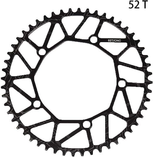 Matedepreso Negro Bicicleta Cadena Bicicleta Individual Cadena Anillo para Bicicleta de Carretera Bicicleta de Montaña - como Imagen Mostrar, 52t: Amazon.es: Hogar