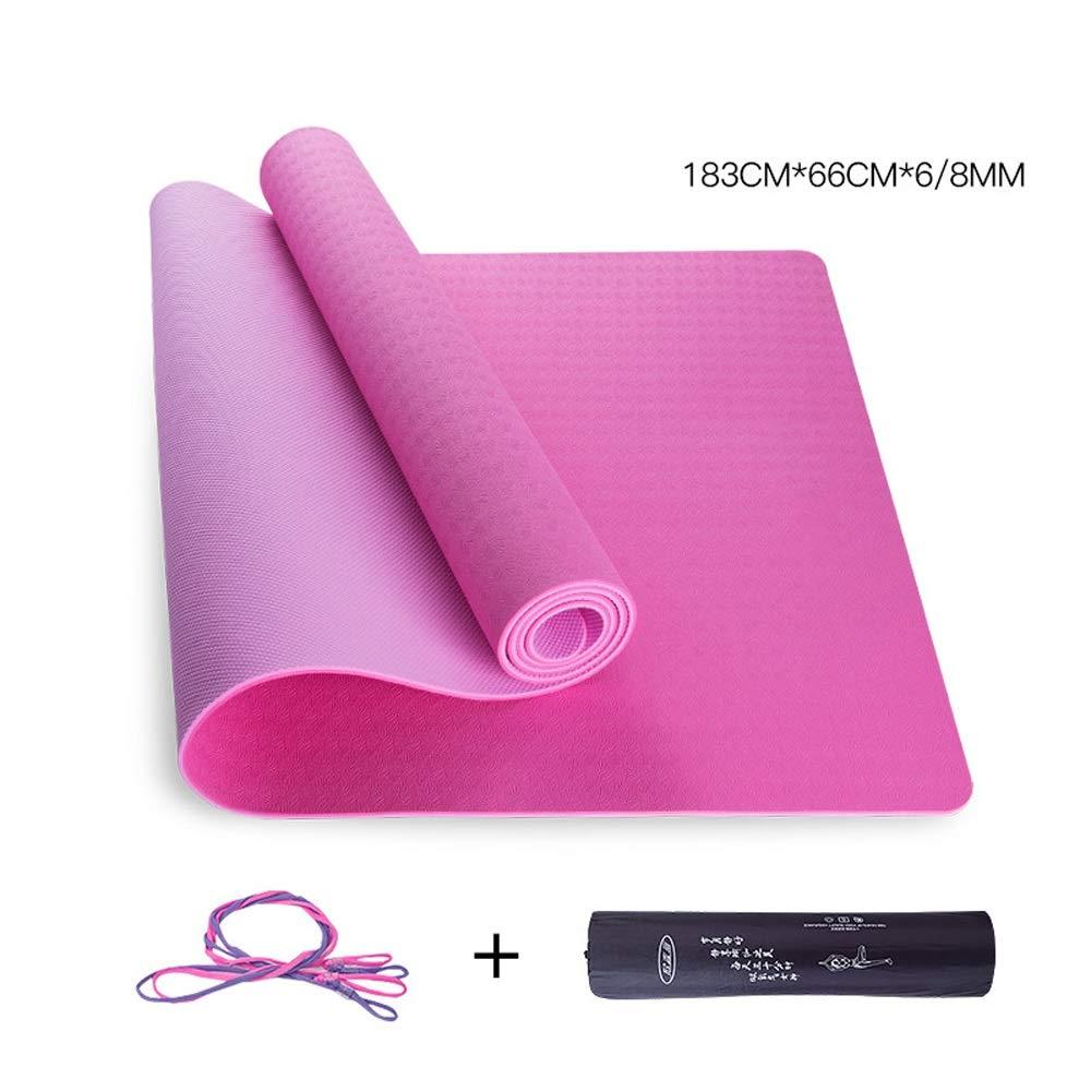 WangQ Yoga Mat - Yoga para Principiantes Fitness Pilates ...