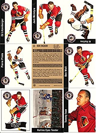 Amazon.com: 1956-57 Parkhurst Missing Link Chicago Blackhawks Team Set by Upper Deck (23): Collectibles & Fine Art