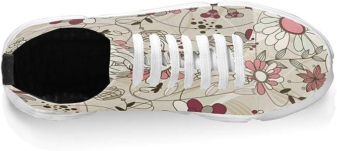 FAJRO - Zapatillas de Running para Hombre, Informales, cómodas, con Flores, Color, Talla 39 EU: Amazon.es: Zapatos y complementos