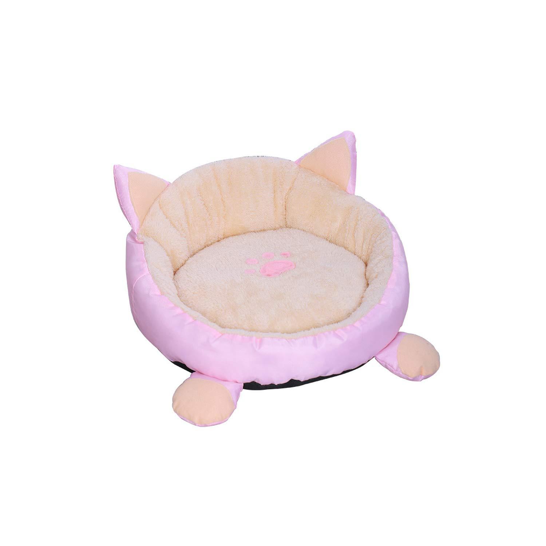 Amazon.com : Cat Warm Bed Velvet Comfortable Ear Shape ...