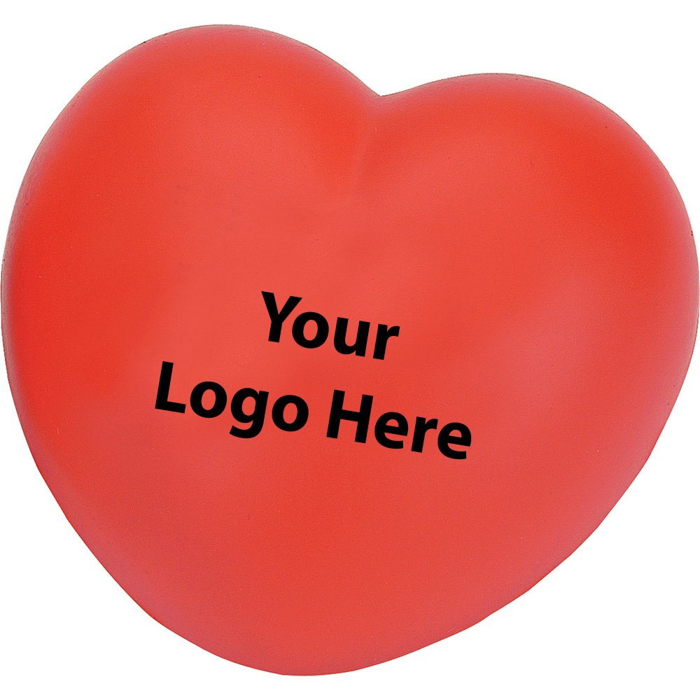 Heart Stress Reliever - 300 Quantity - $1.05 Each - PROMOTIONAL PRODUCT / BULK / BRANDED with YOUR LOGO / CUSTOMIZED