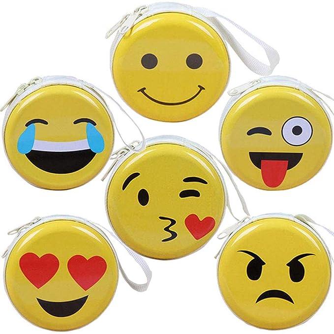 BETOY 6 pcs Monedero Emoji Mini para niños, Billetera Bolso ...