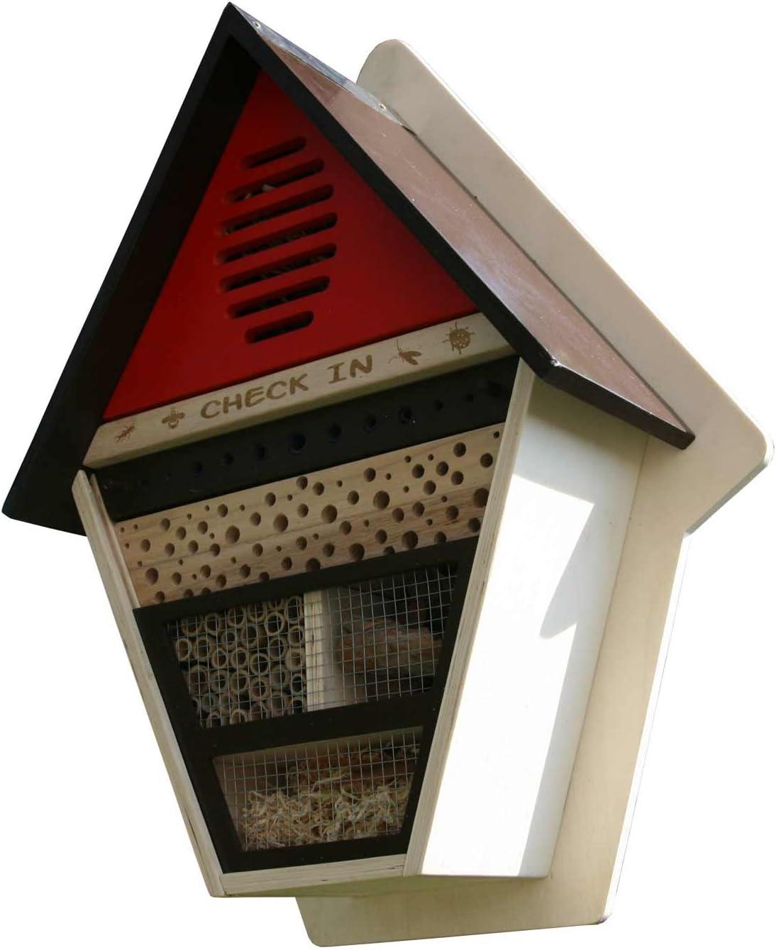 Mendler Insectos Hotel he28, Insectos Nido Casa Caja Nido, Madera de álamo, 52 x 41 x 16 cm: Amazon.es: Juguetes y juegos