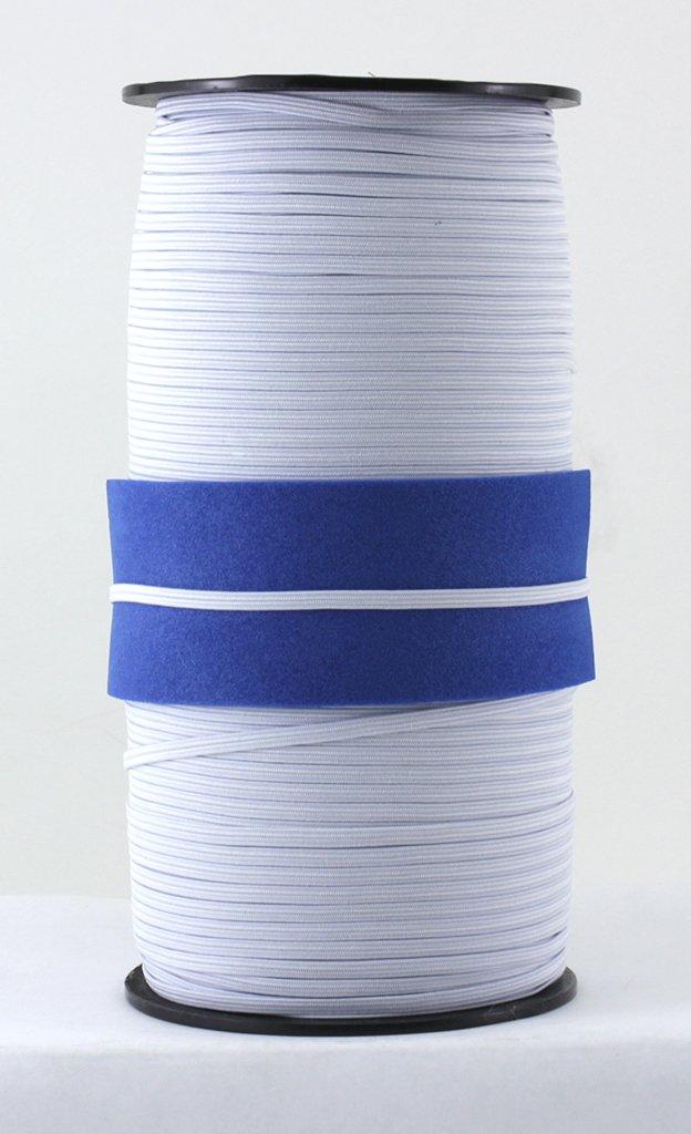 LOOGOOL 3mm Elastic Cord Heavy Stretch String Braided Elastic Band//Elastic Rope 200 Yard Sewing Elastic Spool for Masks White Jewellery Making Beading