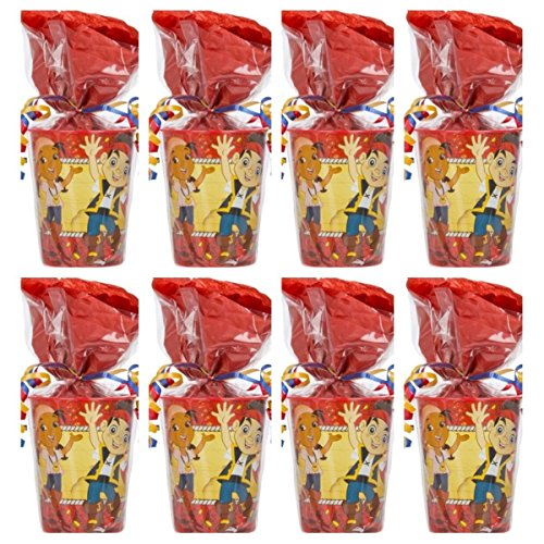 Jake and the Neverland Pirates Party Supplies Pre-Filled Goodie Bag - 8 Goodie Bags