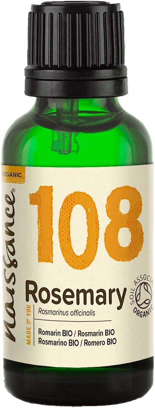 Naissance Aceite Esencial de Romero Bio 30ml - 100% Puro, Certificado ecológico, Vegano y no OGM