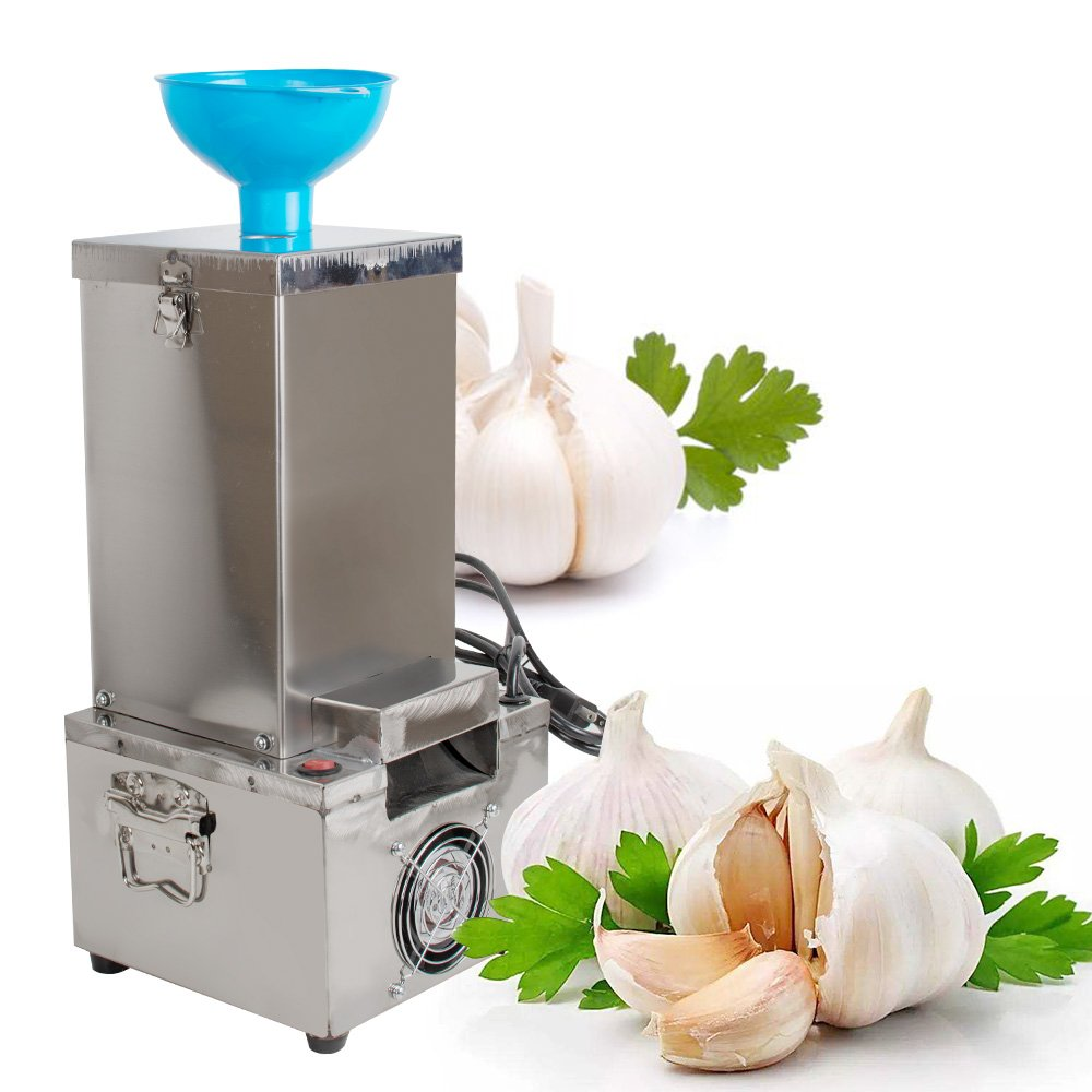 Enshey Garlic Peeler Machine Electric 110V 180W Stainless Steel Garlic Peeling Stripper Machine Fast and Labor-saving Automatic Peeler for Kitchen & Restaurant 44lb / h (1-3 Days Delivery) by Enshey