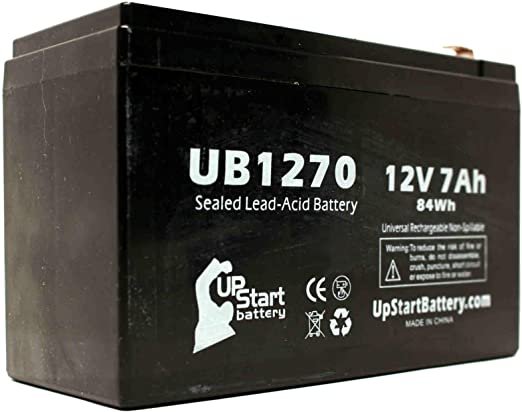 This is an AJC Brand Replacement APC BackUPS CS Series BK350 12V 7Ah UPS Battery