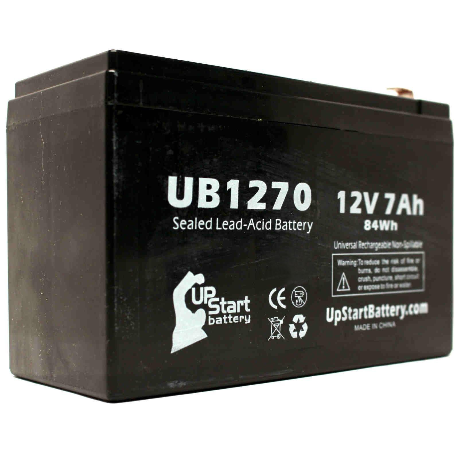 4x Pack - APC SMART-UPS 1500VA USB & SER SUA1500RMUS Battery - Replacement UB1270 Universal Sealed Lead Acid Battery (12V, 7Ah, 7000mAh, F1 Terminal, AGM, SLA) - Includes 8 F1 to F2 Terminal Adapters by UpStart Battery (Image #4)