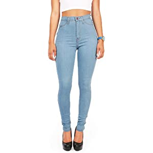 Vibrant Womens Juniors Classic High Waist Denim Skinny Jeans 1 ...