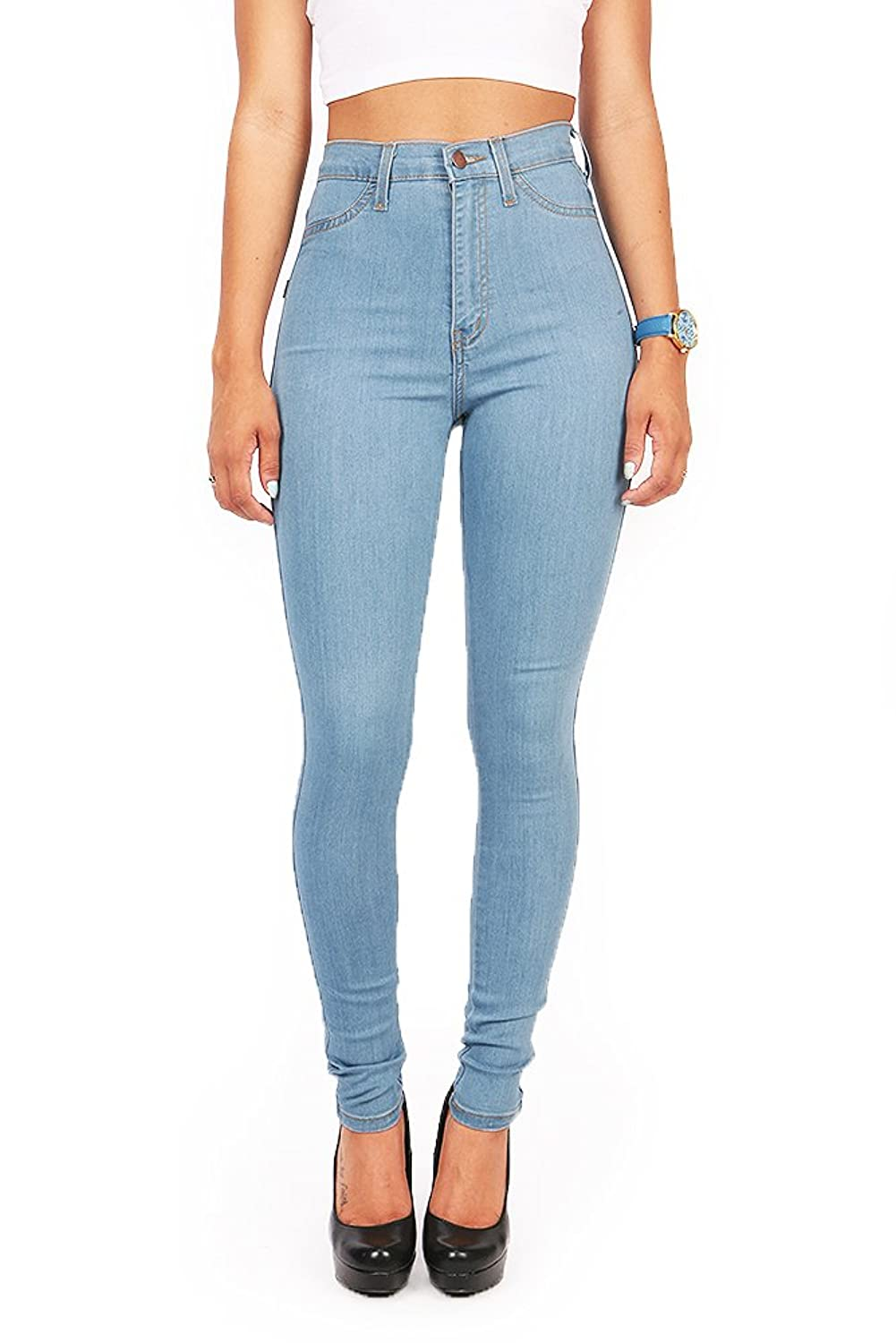 Womens Light Blue Skinny Jeans