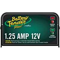 Battery Tender Plus Charger and Maintainer: 12V, 1.25 Amp Powersport Battery Charger and Maintainer for Motorcycles, ATVs, UTVs, and More - Smart 12 Volt Automatic Float Chargers by Deltran - 021-0128
