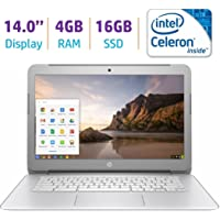 2018 HP Premium High Performance 14 inch Chromebook Full HD 1080p IPS display, Intel Celeron Quad-Core Processor, 4GB RAM, 16GB eMMC, 802.11ac WiFi, HDMI, Webcam Bluetooth Chrome OS, only 3.74Lb