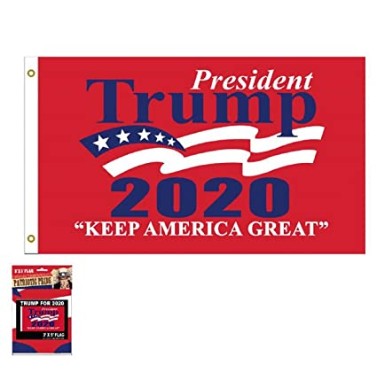 2020 Red All Aboard The Trump Train Flag 2020 MAGA Flag Banner