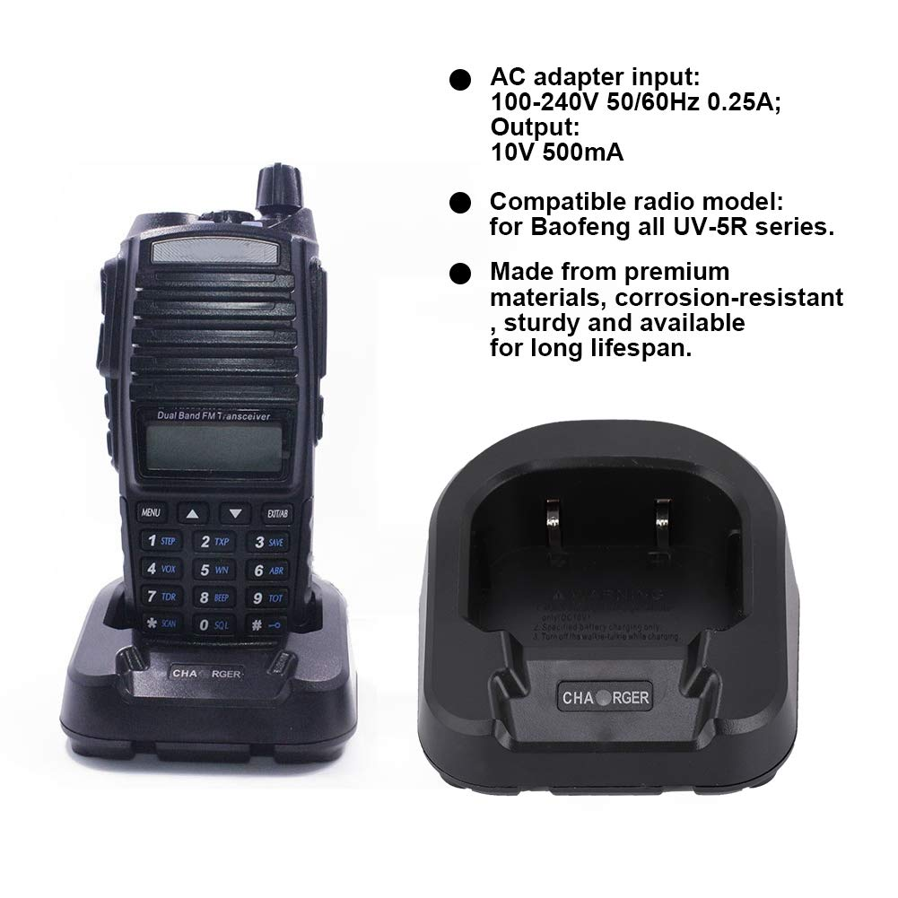Amazon.com: ASHATA Walkie Talkie Cargador de batería ...