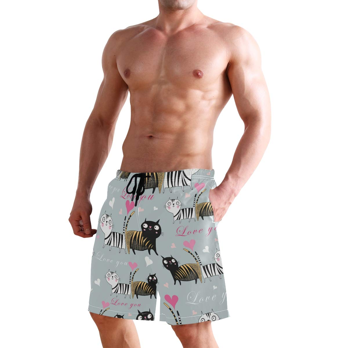 haode Mens Swimwear Running Surfing Sports Beach Camouflage Shorts Trunks Board Pants Swimming Trunks for Men Swimsuit